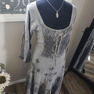 Dresses & Skirts - Gray Silver Tone Dress sz S/M